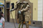Живые статуи.