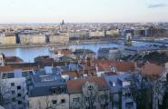 Панорама города со смотровой. Буда