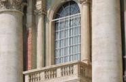 Балкон, с которого вещает Папа. Ватикан. Рим.